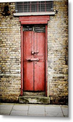 Old Red Door Metal Print by Heather Applegate