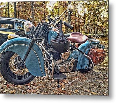 Pale Blue Rider Metal Print