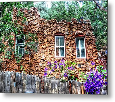 Metal Print featuring the photograph Old Rock House In Williams Canyon by Lanita Williams