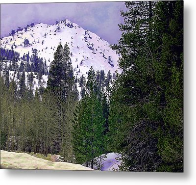 Metal Print featuring the photograph Old Route 40 Winter by William Havle