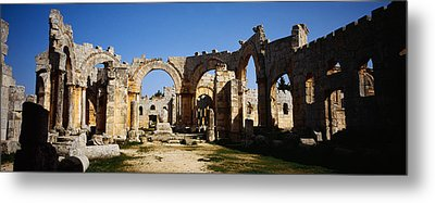 Old Ruins Of A Church, St. Simeon The Metal Print by Panoramic Images