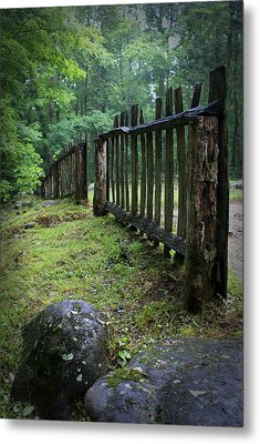 Old Rustic Fence Metal Print