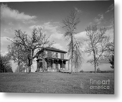 Old Rustic House On A Hill Metal Print