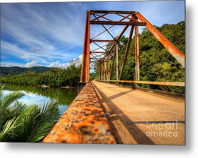 Old Rusty Bridge In Countryside Metal Print by Fototrav Print