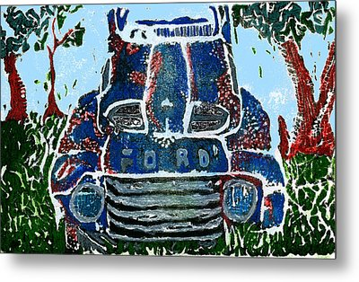 Old Rusty Ford Metal Print by Jame Hayes
