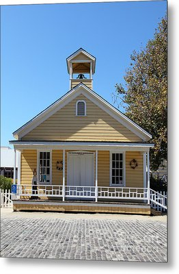 Old Sacramento California Schoolhouse 5d25543 Metal Print by Wingsdomain Art and Photography