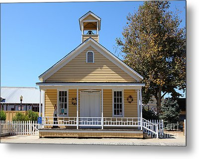 Old Sacramento California Schoolhouse 5d25544 Metal Print by Wingsdomain Art and Photography