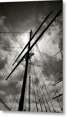 Old Sailing Ship Metal Print by Alex King