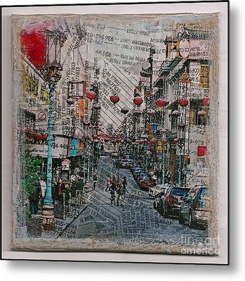 Old San Francisco China Town Metal Print by Ruby Cross