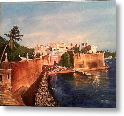 Old San Juan Puerto Rico Metal Print by Ramon Lopez Collazo