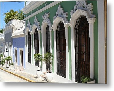 Metal Print featuring the photograph Old San Juan Street by The Art of Alice Terrill