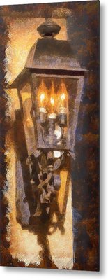 Old Santa Fe Lamp Metal Print by Michael Flood