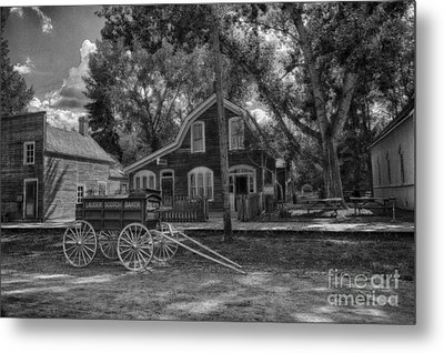 Old Scene-baker Wagon Metal Print by Darcy Michaelchuk