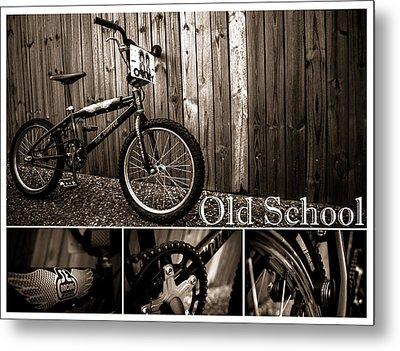 Old School Bmx - Pk Collage Bw Metal Print by Jamian Stayt