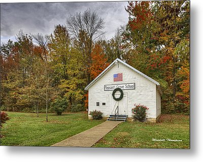 Old School House At Panther Creek Metal Print by Wendell Thompson