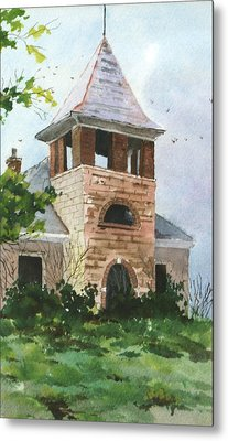 Metal Print featuring the painting Old Schoolhouse by Susan Crossman Buscho