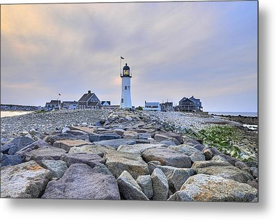 Old Scituate Light Metal Print by Dan Myers