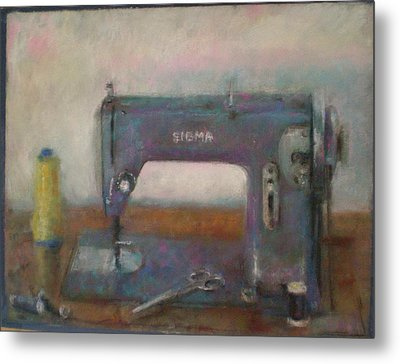 Old Sewing Machine Metal Print by Paez  Antonio