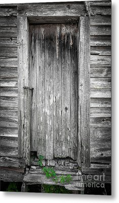Old Shed Door Metal Print by Marion Johnson