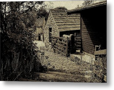 Metal Print featuring the photograph Old Shed by Karen Kersey