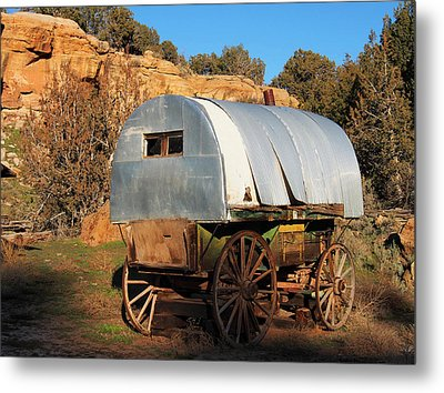 Old Sheepherder's Wagon Metal Print