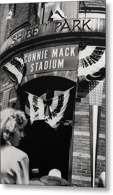 Old Shibe Park - Connie Mack Stadium Metal Print by Bill Cannon