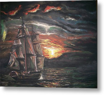 Old Ship Of The Sea Metal Print