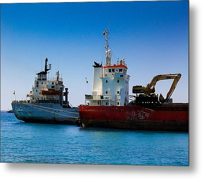 Metal Print featuring the photograph Old Ships by Kevin Desrosiers