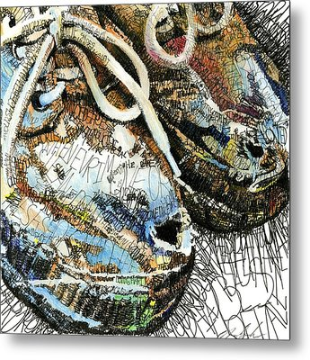 Old Shoes Metal Print by Michael Volpicelli