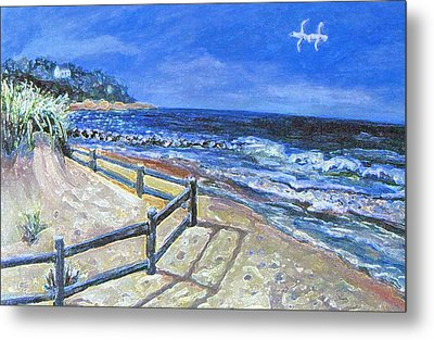 Old Silver Beach Metal Print by Rita Brown