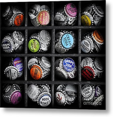Old Soda Bottle Tops Metal Print