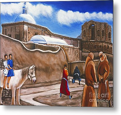 Old Spanish Church Metal Print by William Cain