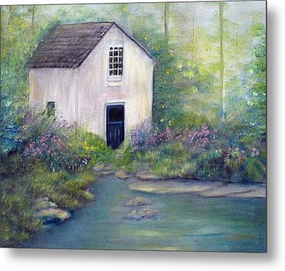 Old Springhouse Metal Print