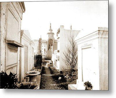 Old St. Louis Cemetery, New Orleans, La, Cemeteries Metal Print by Litz Collection
