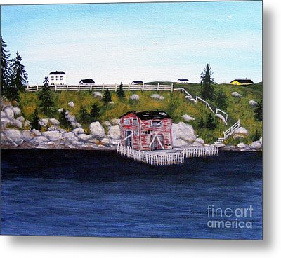 Old Stage And Storeloft Metal Print by Barbara Griffin
