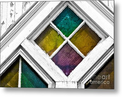Old Stained Glass Windows Metal Print