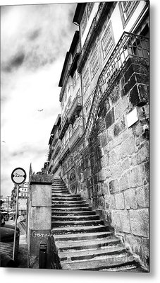Old Stairs In Porto Metal Print by John Rizzuto