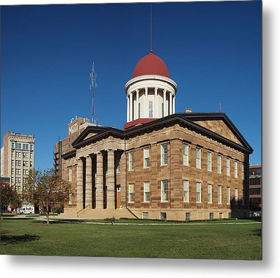 Old State Capital Springfield Illinois Metal Print