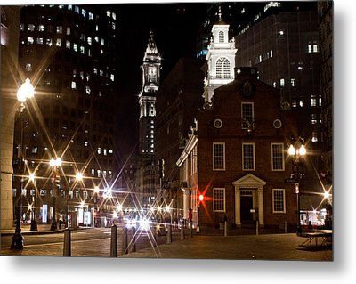 Old State House In Boston Metal Print by John McGraw