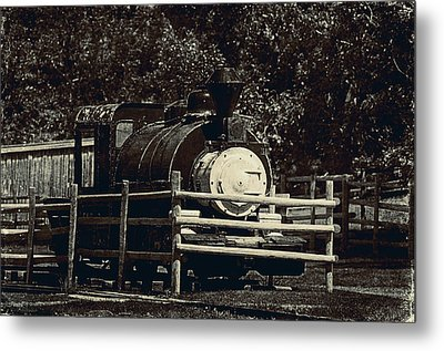 Old Steam Locomotive  Metal Print by Maria Angelica Maira