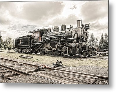 Old Steam Locomotive No. 97 - Made In America Metal Print by Gary Heller