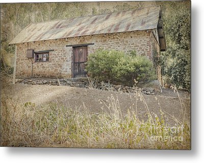 Old Stone Cottage Metal Print