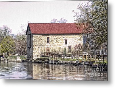 Metal Print featuring the photograph Old Stone House On The Canal by Jim Lepard