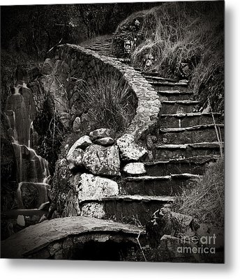 Old Stone Stairway Metal Print by Charmian Vistaunet