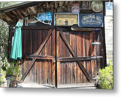 Old Storage Shed At The Swiss Hotel Sonoma California 5d24457 Metal Print by Wingsdomain Art and Photography