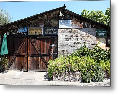Old Storage Shed At The Swiss Hotel Sonoma California 5d24458 Metal Print by Wingsdomain Art and Photography