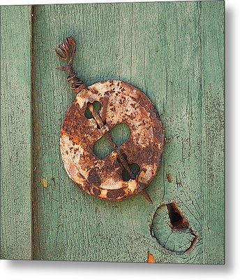 Old Stove Valve Metal Print by Art Block Collections