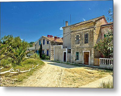 Old Streets Of Susak Island Metal Print