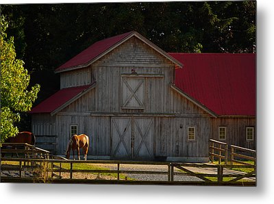 Metal Print featuring the photograph Old-style Horse Barn by Jordan Blackstone