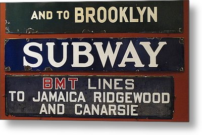 Old Subway Signs Metal Print by Dave Mills